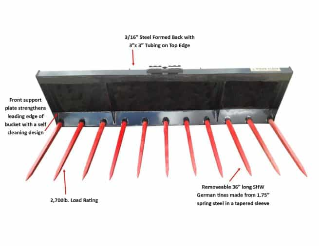 "84"" Heavy Duty Manure Fork"